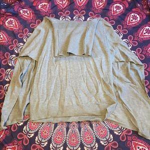 Cape style cowl neck sweater